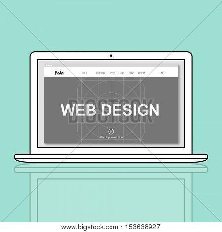 Web Design Media Page Concept