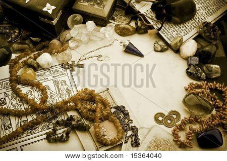 Esoteric arrangement in vintage style