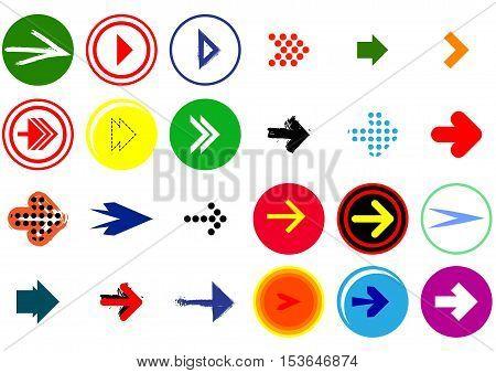Simplen modern style arrow sign icon set.