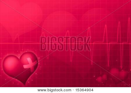 Medical Valentine's day. Illustration.