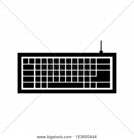 computer keyboard icon image vector illustration design