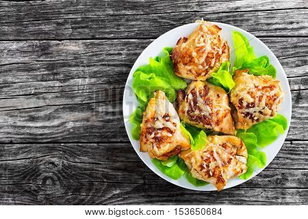 Stuffed Chicken Breast With Ham, Cheese, Tomatoes