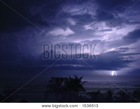 Tropical Storm At Night
