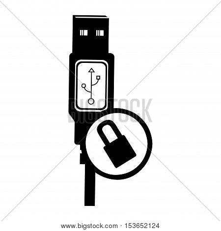 usb cable icon image vector illustration design
