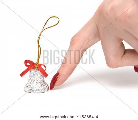 Finger and hand bell. On white.