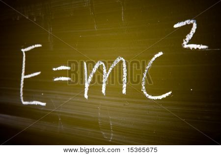 Well-known physical formula. Specially computer modified to add dramatic and style.