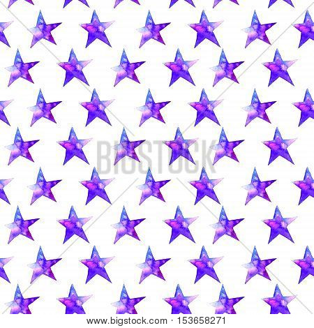 Colorful watercolor star icon. illustration on white background. Blue and violet. Isolated. Hand-drawn symbol