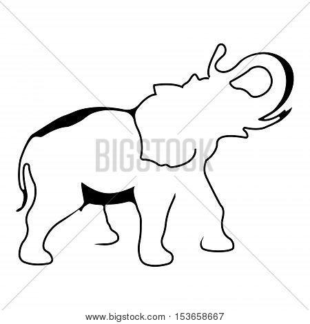 Elephant logo. Silhouette vector symbol of elephant for design