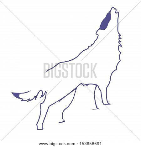 Wolf logo. Silhouette vector symbol of wolf for design