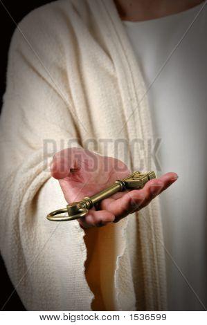 Jesus Offering Key
