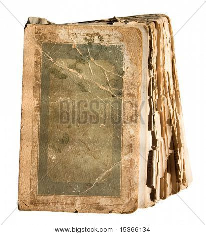 Very old tattered book with pages.