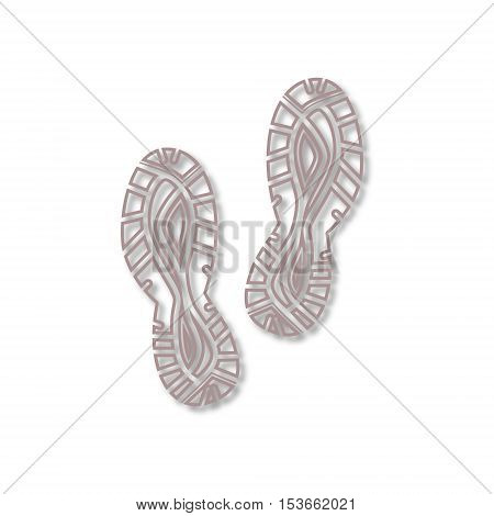 Line Sport shoe icon on white background