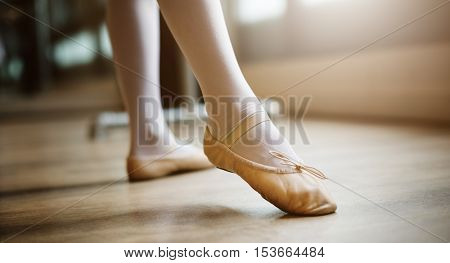 Young Ballerina Dance Training Performance Concept