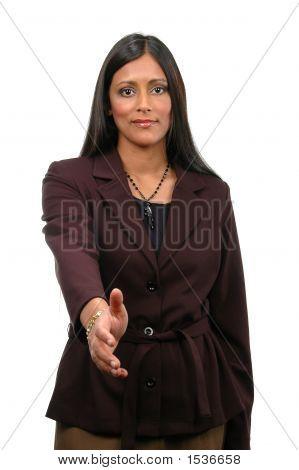 Woman Extending Hand