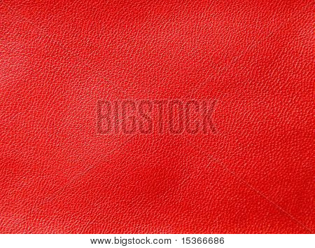 Red leather. Texture or background.