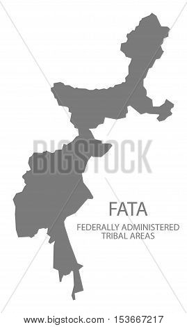 FATA Federally administrated tribal areas Pakistan Map grey vector high res