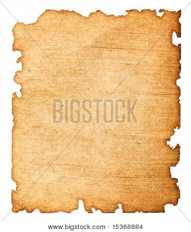Beschädigte Altpapier. Isolated on White.