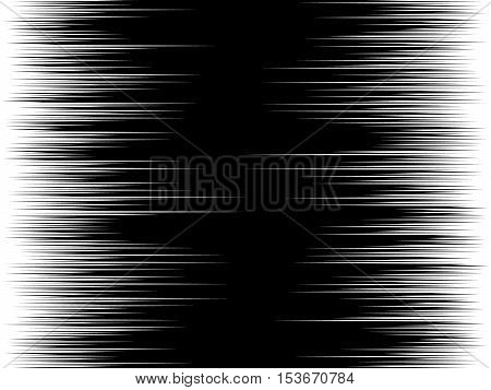 Speed background, Black and white vector Illustration with horizontal lines