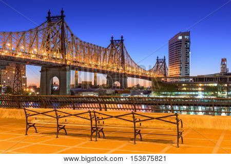 Queensboro Bridge in New York City.