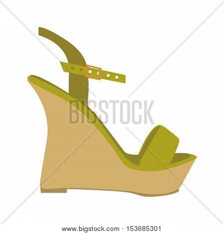 wedge sandal shoe icon image vector illustration design