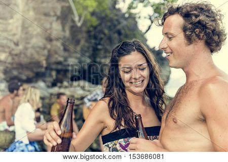 Beach Bikini Happiness Leisure Relaxation Fun Concept