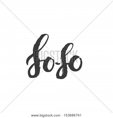 So-so. Hand Drawn Calligraphy on White Background.