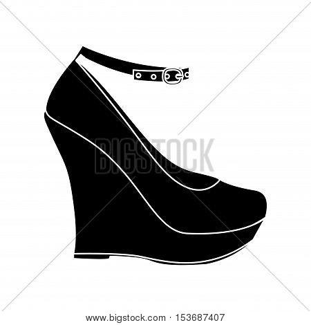 wedge shoe icon image vector illustration design