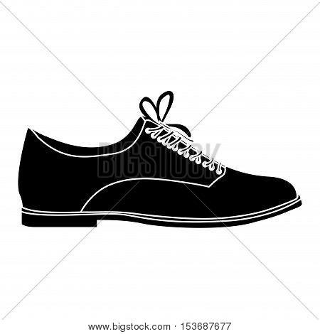 classic lace shoe icon image vector illustration design