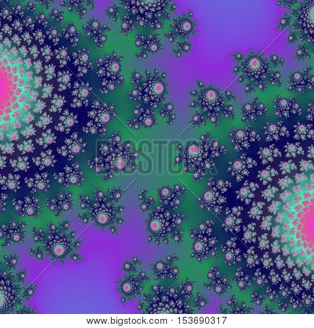 Beautiful bright two floral half balls abstract image