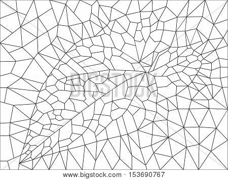 background of the triangles with the image of leaf bindweed