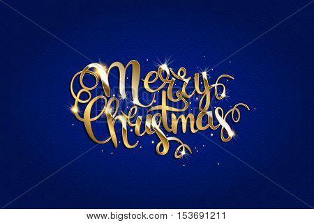 Merry Christmas Vector Text .