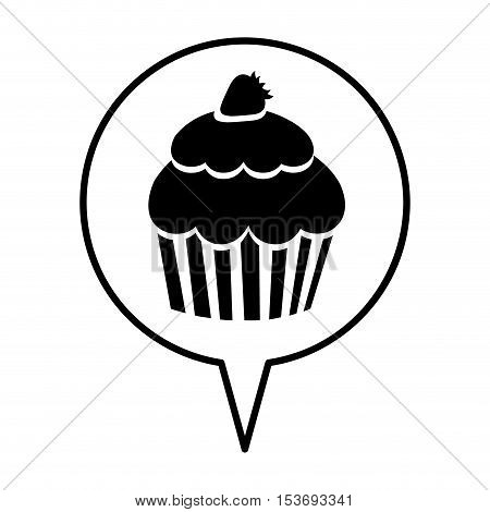 cupcake pictogram icon image vector illustration design