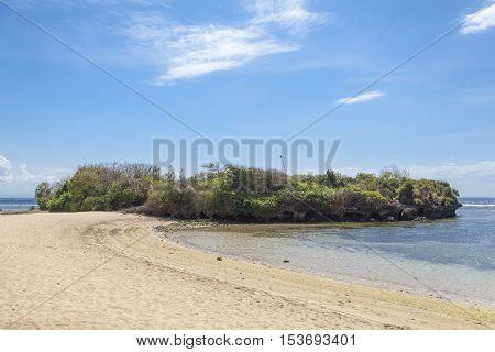A view from the beach in Nusa Dua, Indonesia, Bali.