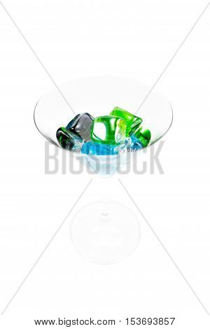 Tasty Cocktail, drink, glass. Isolated. White background.