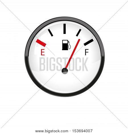 Car fuel gauge. Illustration on white background