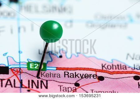 Kehra pinned on a map of Estonia