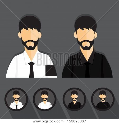 Men dressed in mourning cartoon vector design.