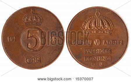 Antique Coin Of Sweden