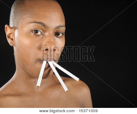 Woman And Cigarettes