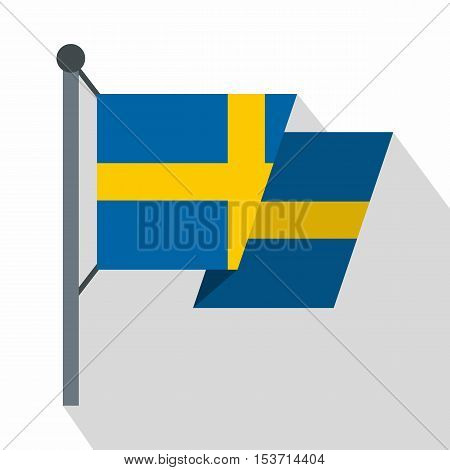 Flag of Sweden icon. Flat illustration of flag of Sweden vector icon for web
