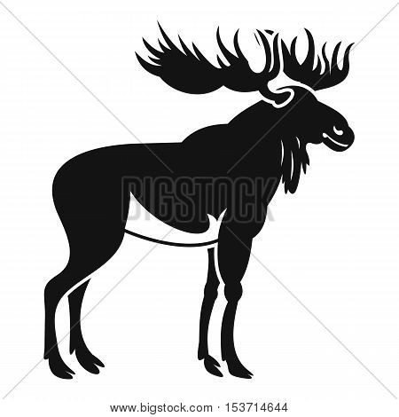 Moose icon. Simple illustration of moose vector icon for web