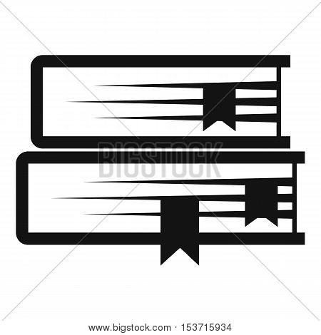 Two books icon. Simple illustration of two books vector icon for web