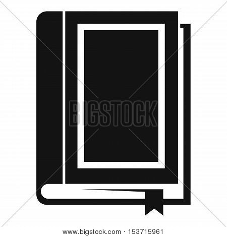 Book icon. Simple illustration of book vector icon for web