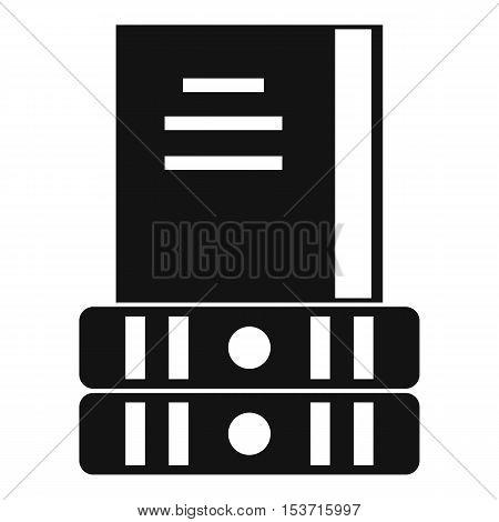 Three books icon. Simple illustration of three books vector icon for web