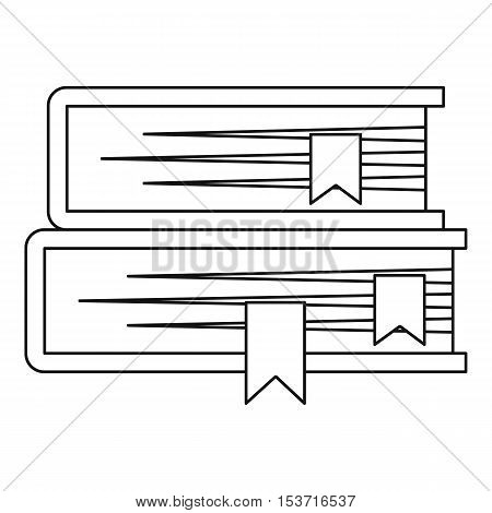 Two books icon. Outline illustration of two books vector icon for web