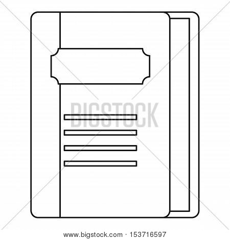 Tutorial icon. Outline illustration of tutorial vector icon for web