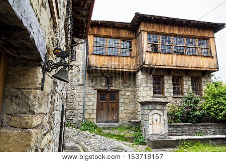 Traditional architecture in the town of Metsovo in Epirus, Greece