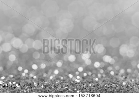 Christmas background. Shiny silver abstract background. Glitter background