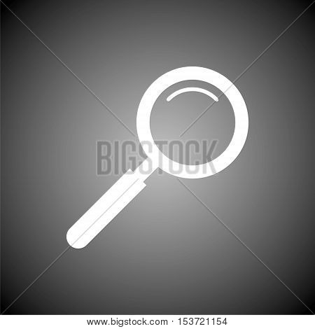Magnifying glass, Search Icon on gray background