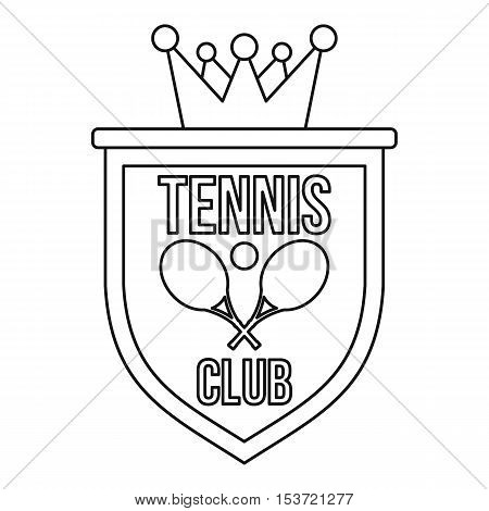 Coat of arms of tennis club icon. Outline illustration of coat of arms of tennis club vector icon for web